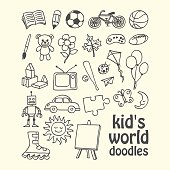 Kid's World Doodles