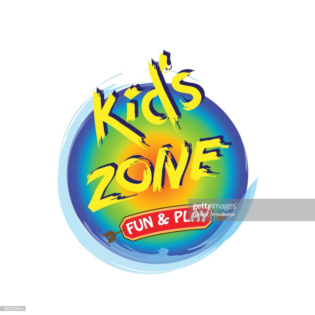 Kids Zone  Banner in Cartoon Style