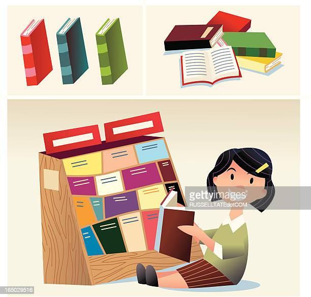 ilustrações, clipart, desenhos animados e ícones de kidz educação - livro de capa dura