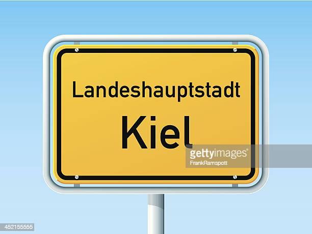 Kiel deutsche City Road Sign