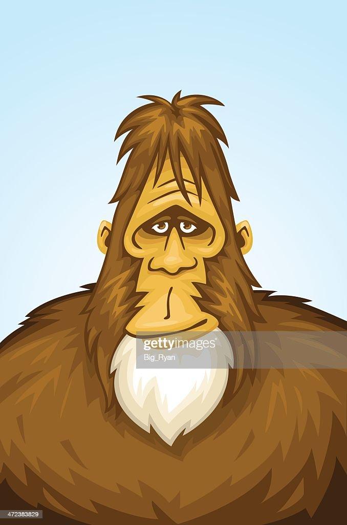 Tipo bigfoot : Ilustración de stock