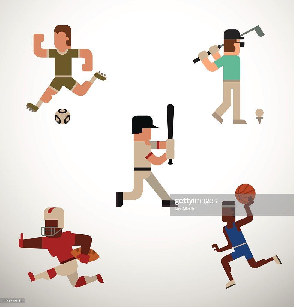 Kind of sport, set, flat