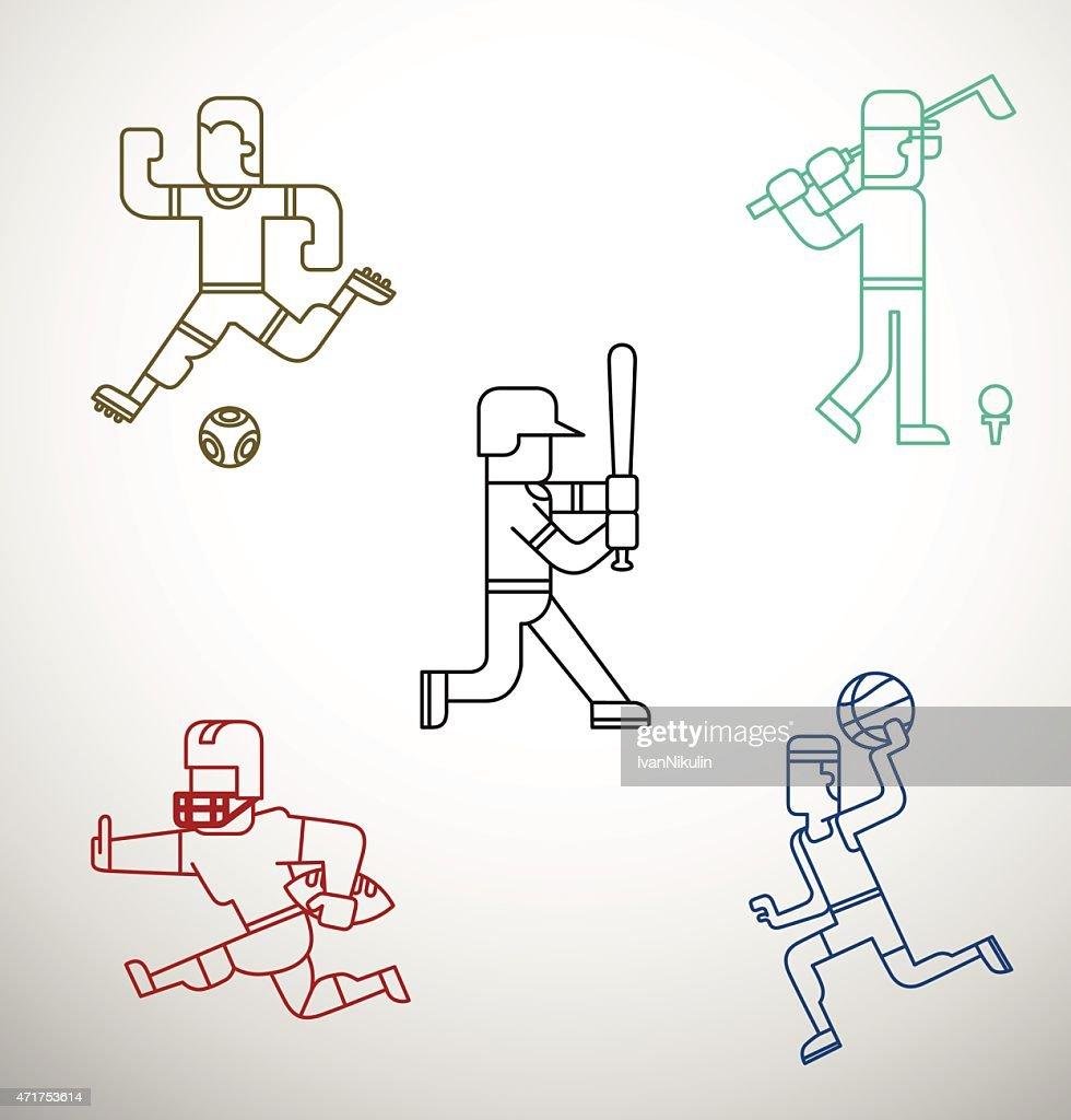 Kind of sport, set, line