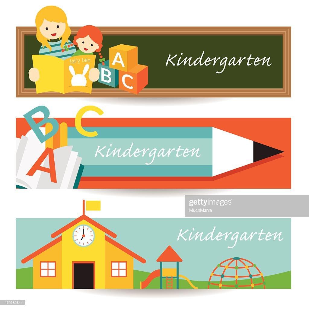 Kindergarten, Preschool, Banner