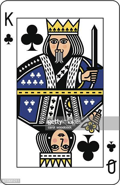 King and Queen of Clubs Playing Card