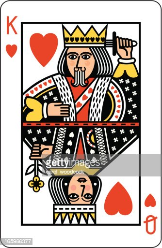 king and queen of hearts playing card highres vector