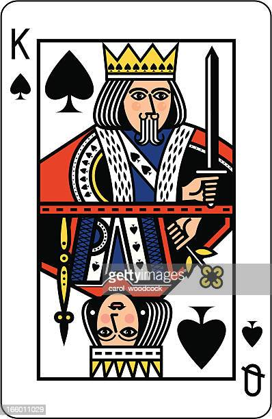 King and Queen of Spades Playing Card