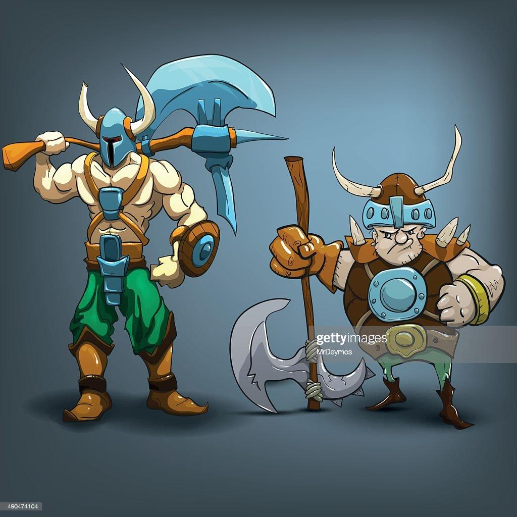 King barbarians. Vector illustration.