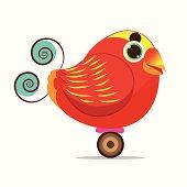 King Bird of Paradise bird cute cartoon abstract