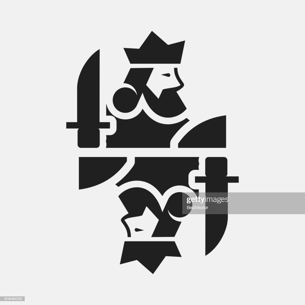 King card icon illustration