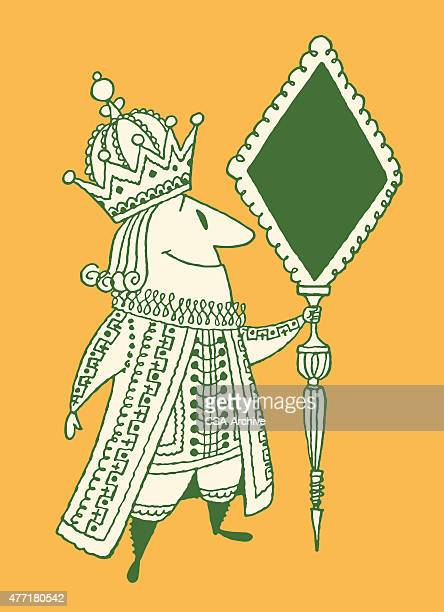 king holding scepter - emperor stock illustrations, clip art, cartoons, & icons