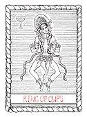 King of cups. The tarot card.