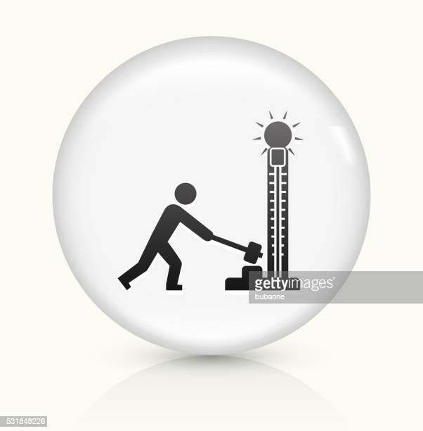 king of hammer icon on white round vector button - school carnival stock illustrations, clip art, cartoons, & icons