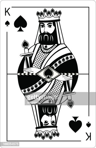 King Of Spades Vector