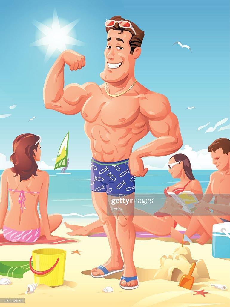 King Of The Beach : stock illustration