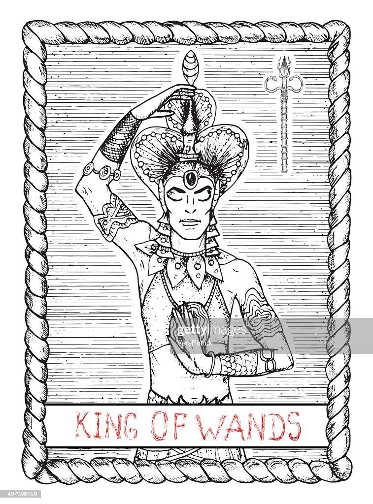 King of wands. The tarot card.