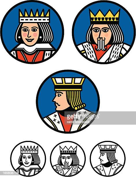 King, Queen and Jack Buttons