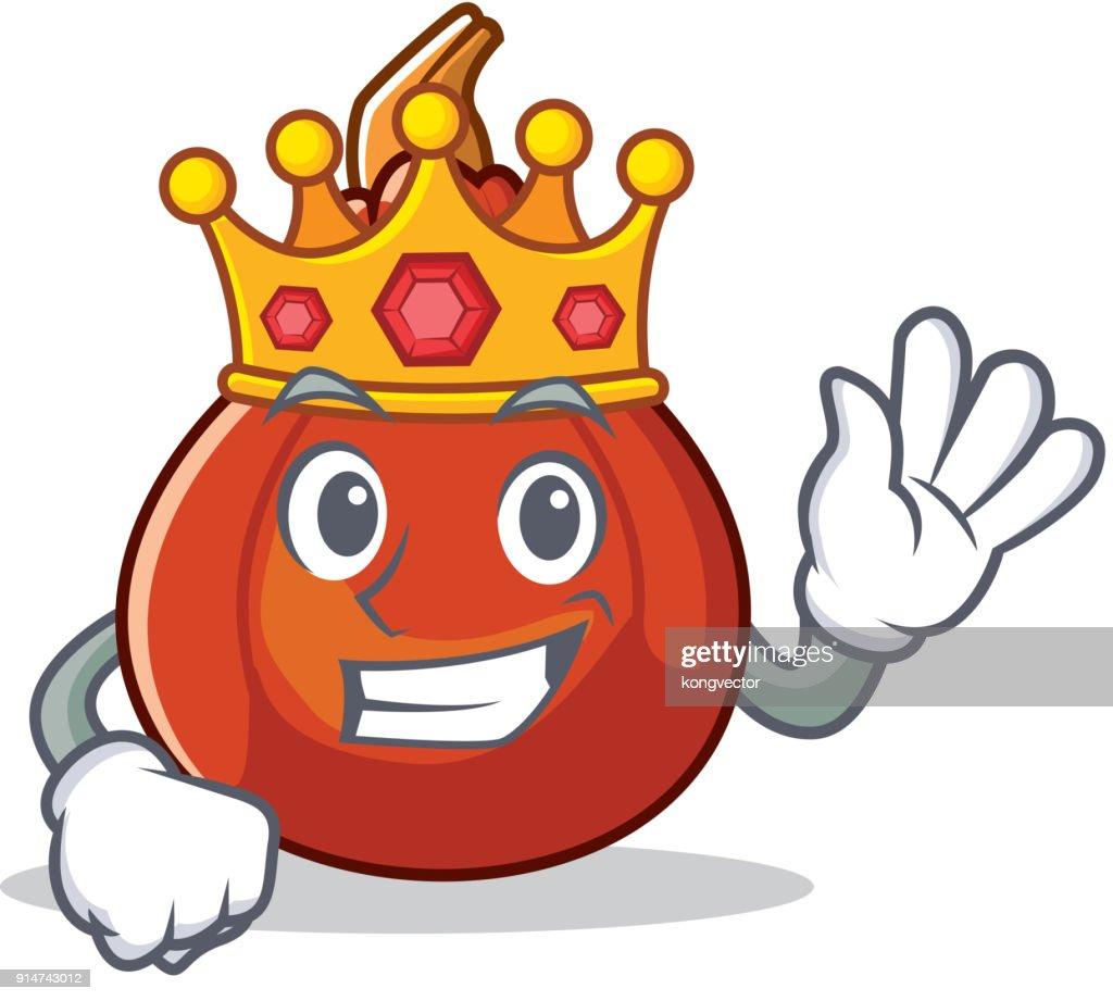 King red kuri squash mascot cartoon