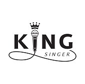 king singer logo with microphone
