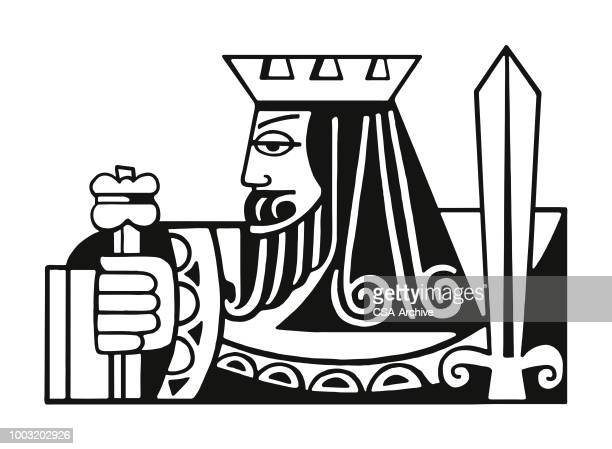 king - king royal person stock illustrations