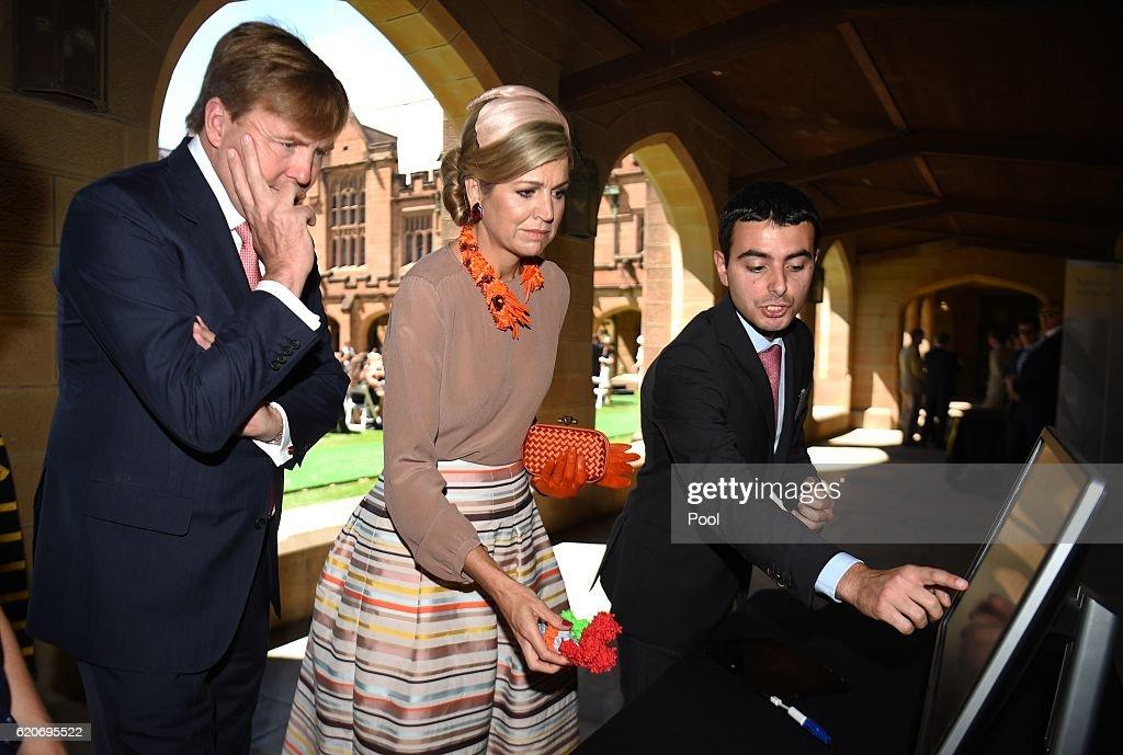 King Willem-Alexander And Queen Maxima Of The Netherlands Visit Australia : Nieuwsfoto's