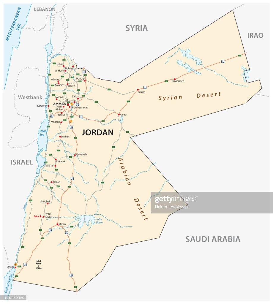 Kingdom of Jordan road map