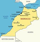 Kingdom of Morocco - vector map