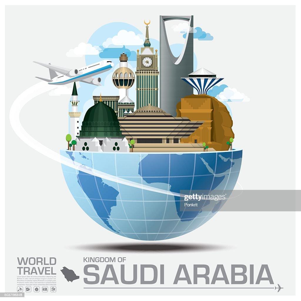 Kingdom Of Saudi Arabia Landmark Global Travel And Journey Infographic