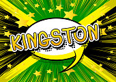 Kingston - Comic book style text.