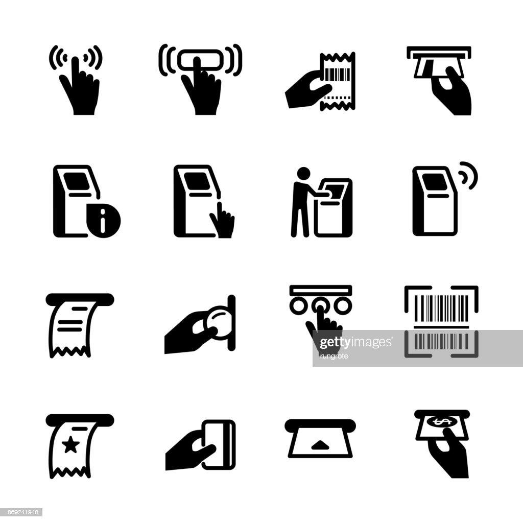 kiosk icon set, vector eps10