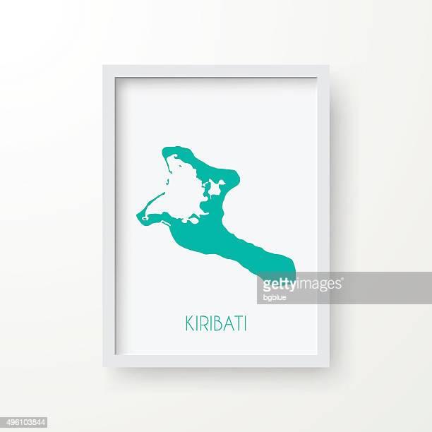 Kiribati Map in Frame on White Background