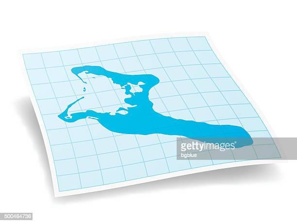 Kiribati Map isolated on white Background