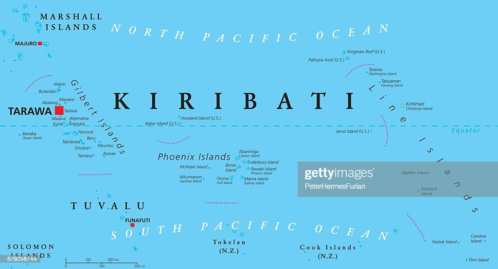Kiribati Political Map