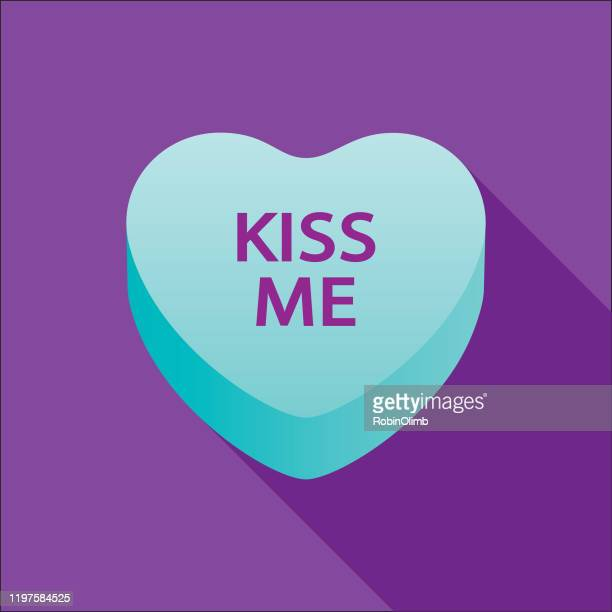キスバレンタインキャンディハートアイコン - 結婚記念日のカード点のイラスト素材/クリップアート素材/マンガ素材/アイコン素材