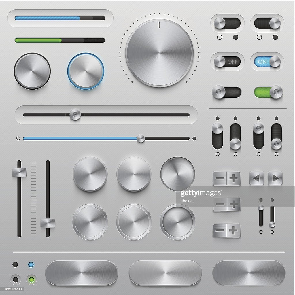 UI kit - metal : stock illustration