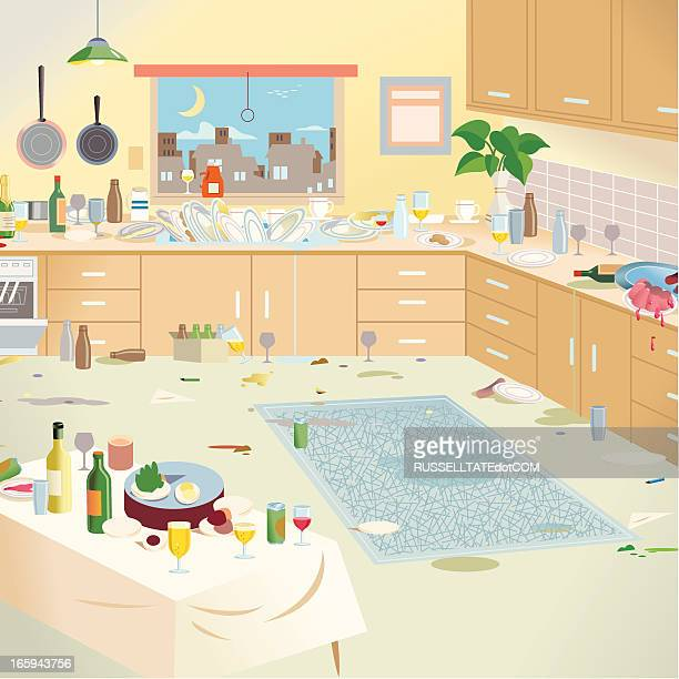Messy Kitchen: Messy Room Stock Illustrations And Cartoons