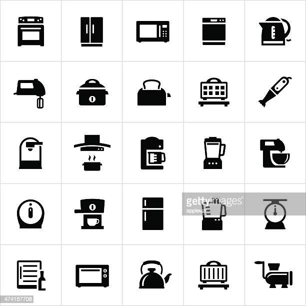 kitchen and cooking appliances - appliance stock illustrations