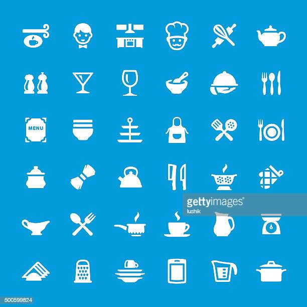 Kitchen and Cooking vector icons set