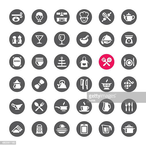 Kitchen and Cooking vector icons