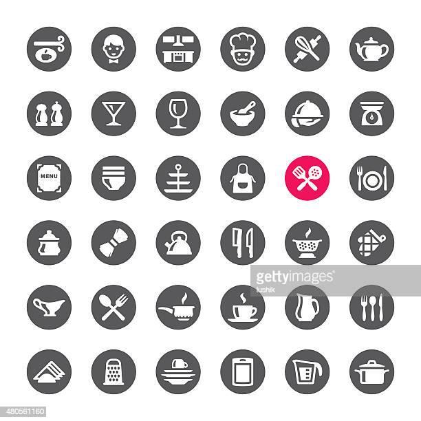 ilustrações de stock, clip art, desenhos animados e ícones de cozinha e culinária ícones vetoriais - batedor de ovos manual