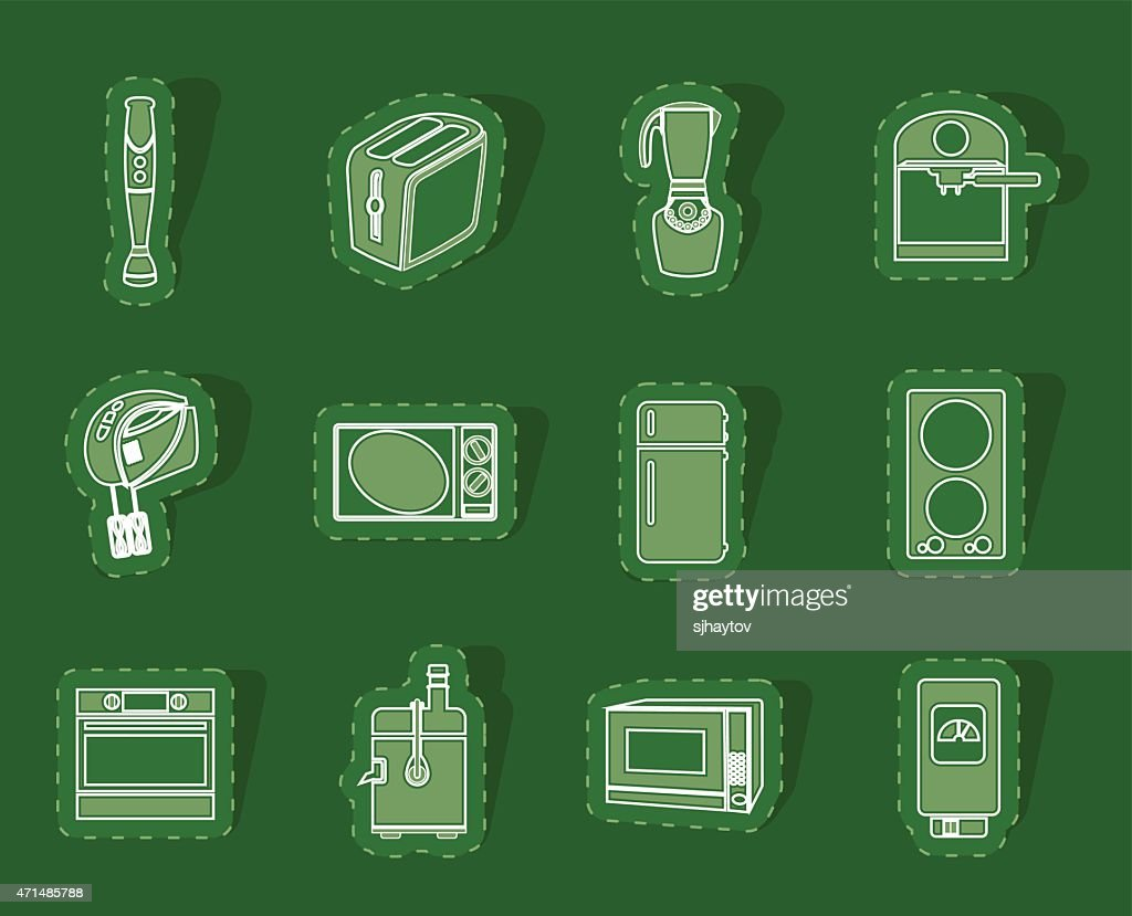 Kitchen and home equipment icons
