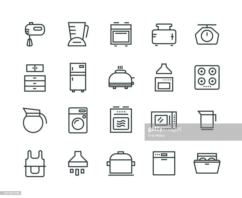 Kitchen Appliance Icon Set : stock illustration