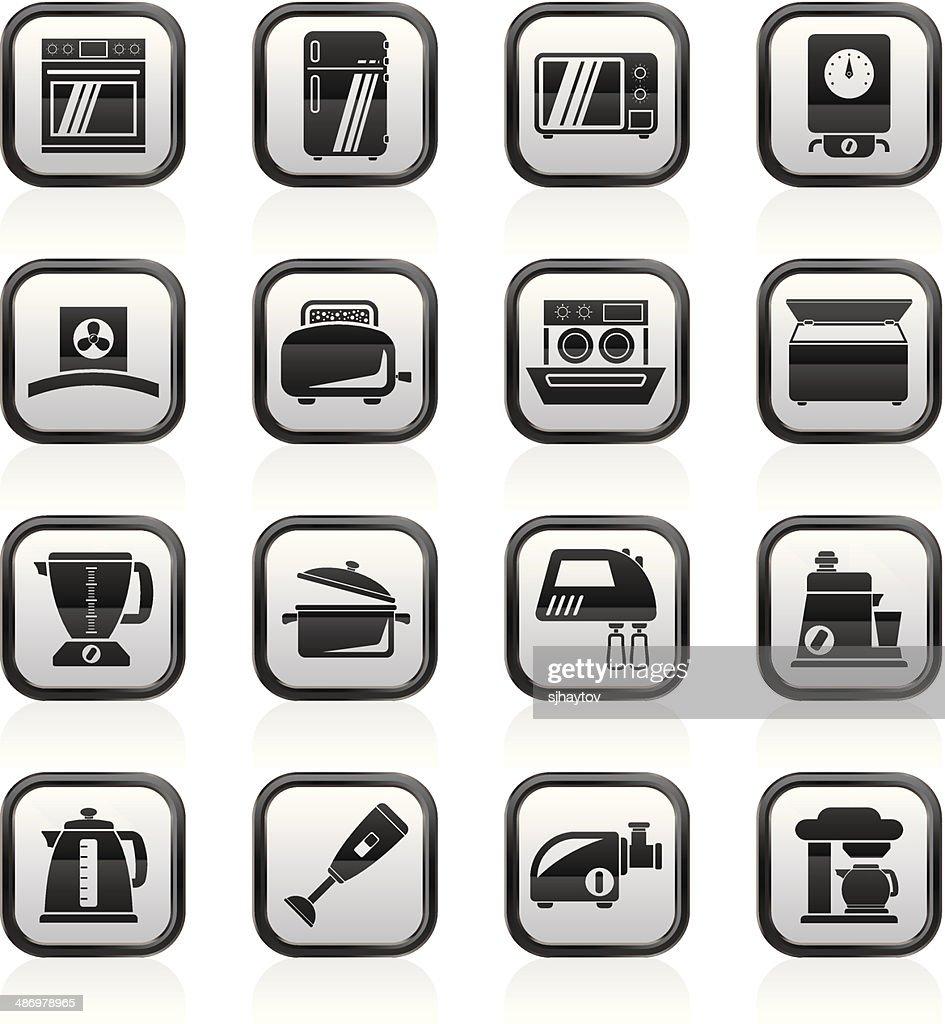 Küchengeräte Und Geräte Symbole Vektorgrafik | Getty Images