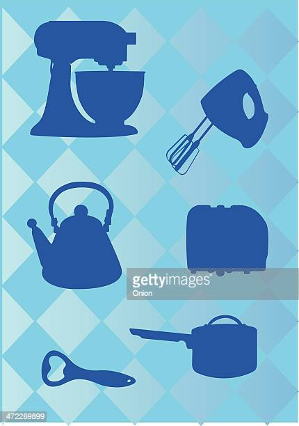 kitchen appliances icons - egg beater stock illustrations, clip art, cartoons, & icons