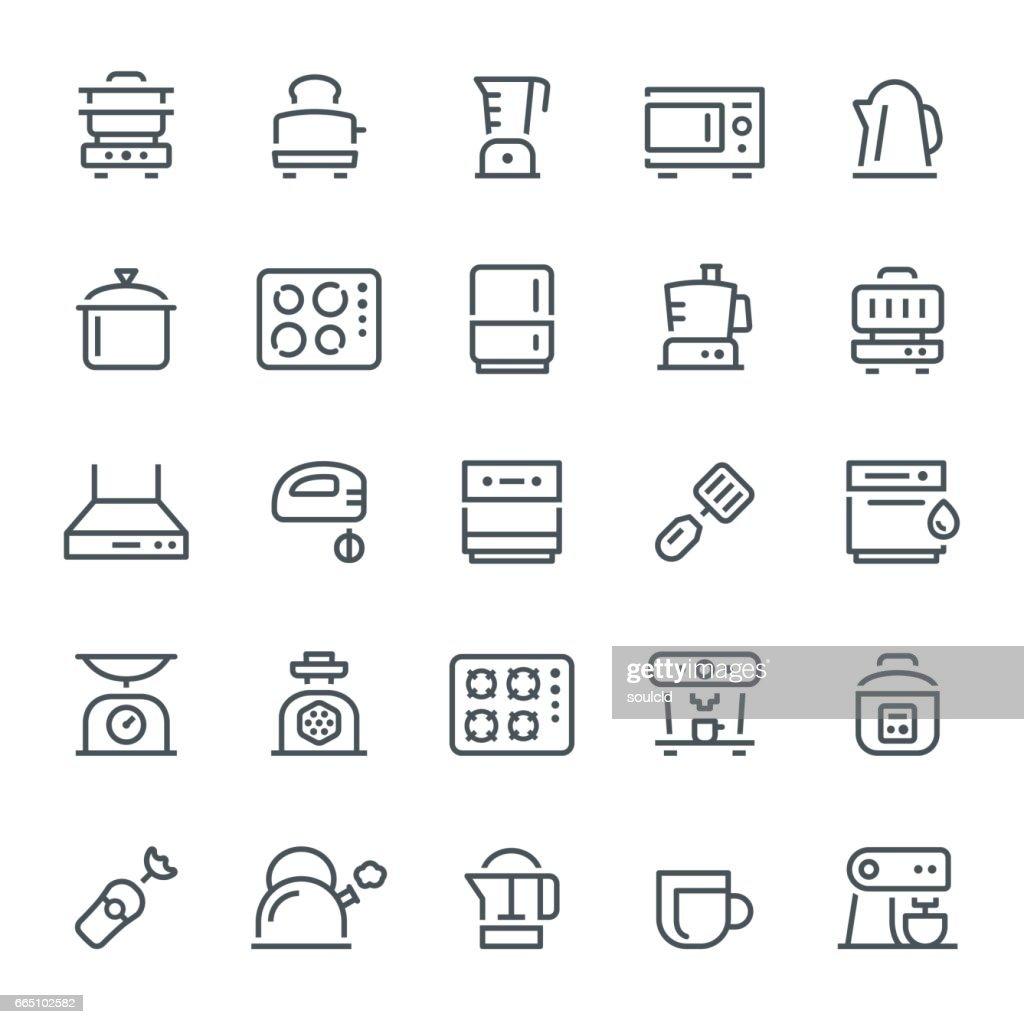 Kitchen Appliances Icons : stock illustration