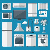 Kitchen appliances vector set