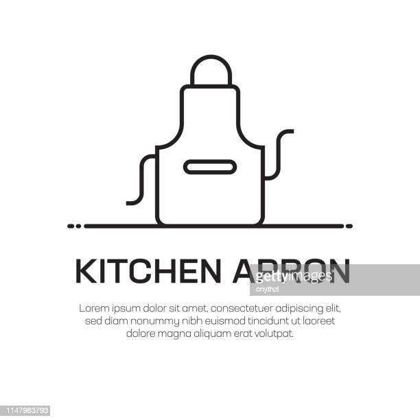Küche Apron Vector Line Icon-Simple Thin Line Icon, Premium Quality Design Element