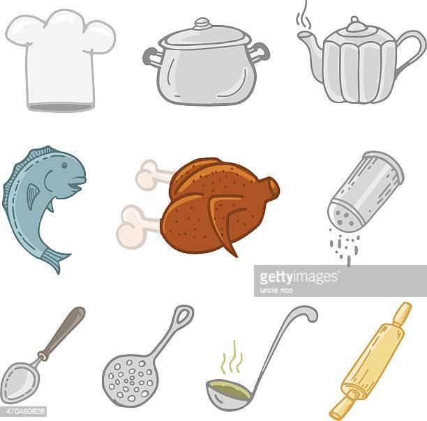 kitchen chef stuff icons