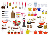 Kitchen clip art. Clip art of cooking utensils. Icon for daily necessities. Material collection.