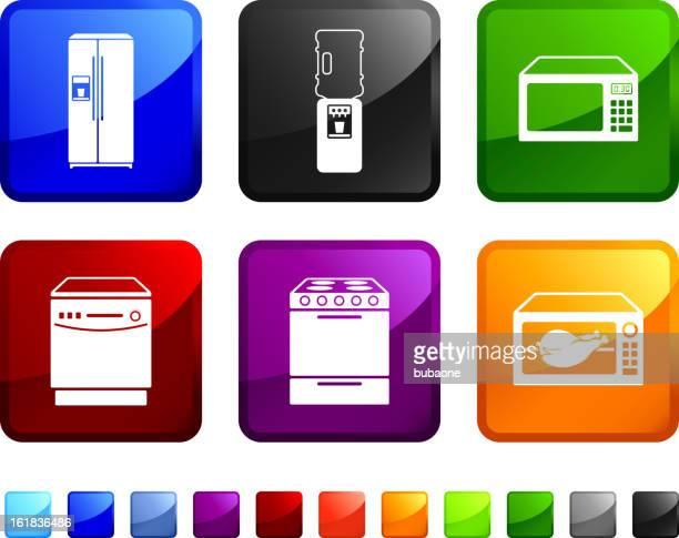 Kitchen Equipment royalty free vector icon set